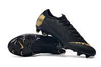 Футбольные бутсы Nike Mercurial Vapor XII Elite FG Black/Gold, фото 1