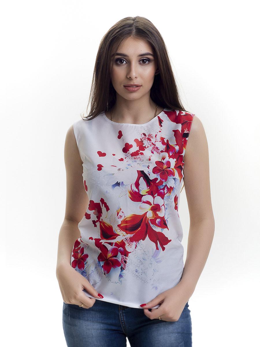 Женская блуза принт без рукава AA2011f