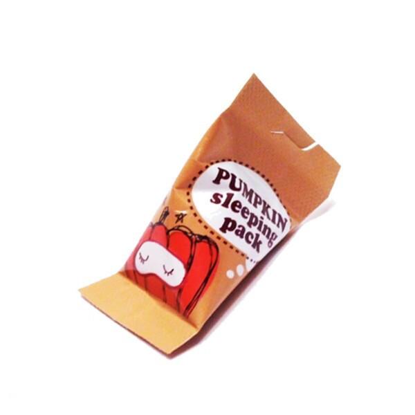 Ночная маска с экстрактом тыквы Too Cool For School Pumpkin Sleeping Pack - 4мл