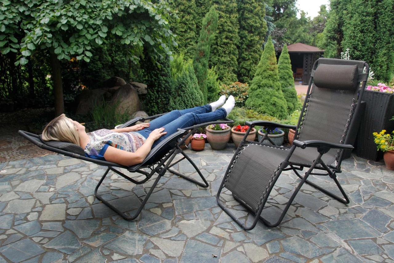 Шезлонг садовое кресло XXL (120 кг.)