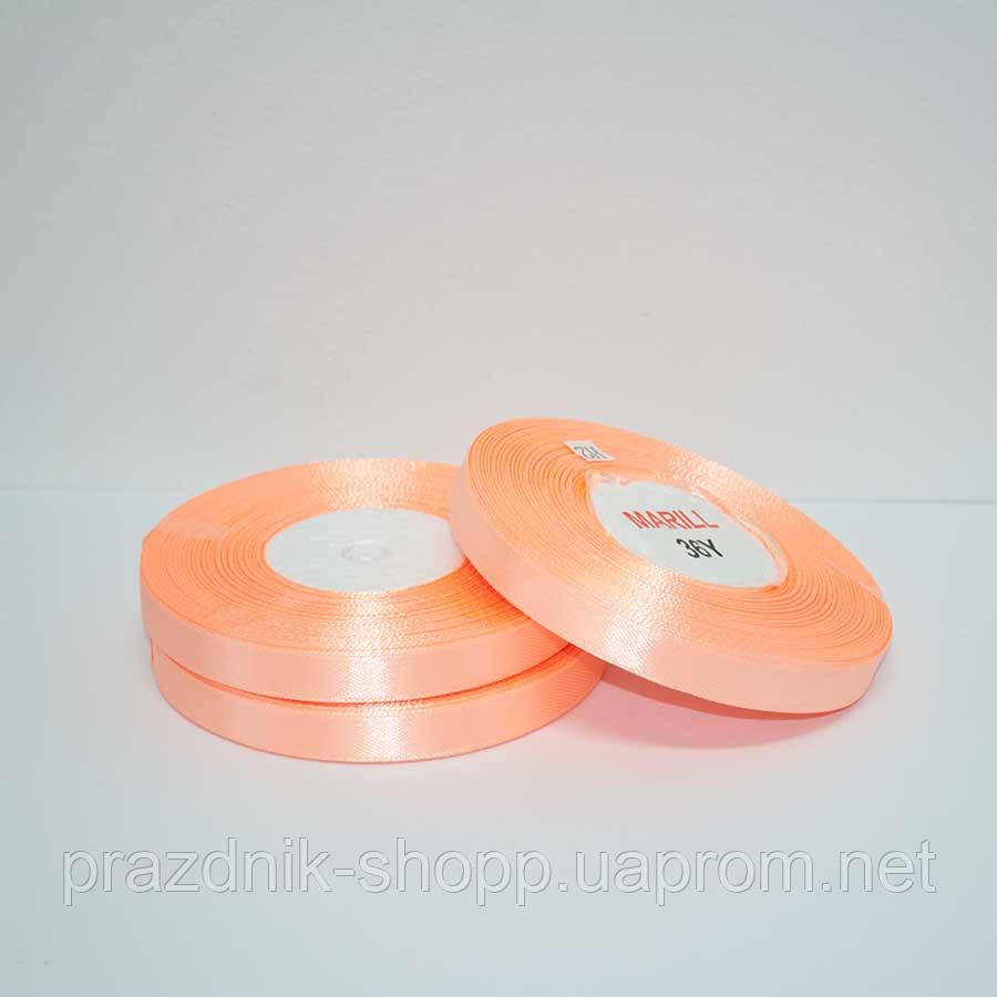 Лента атласная 25 мм. персиковый