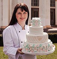 Свадебный торт  с гортензиями