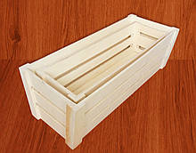 Ящики для цветов деревянные, набор из 2х штук