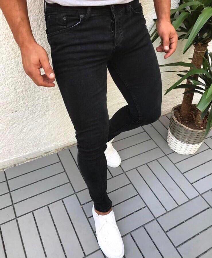 """Мужские джинсы без бренда """"Black"""""""