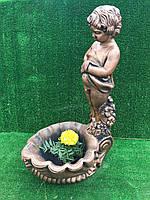 Садова фигура хлопчик на ракушці ( висота 70 см)