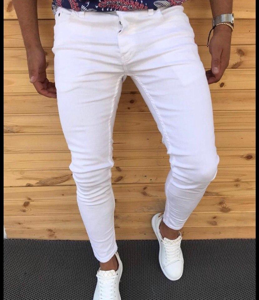 "Мужские джинсы без бренда ""White"""