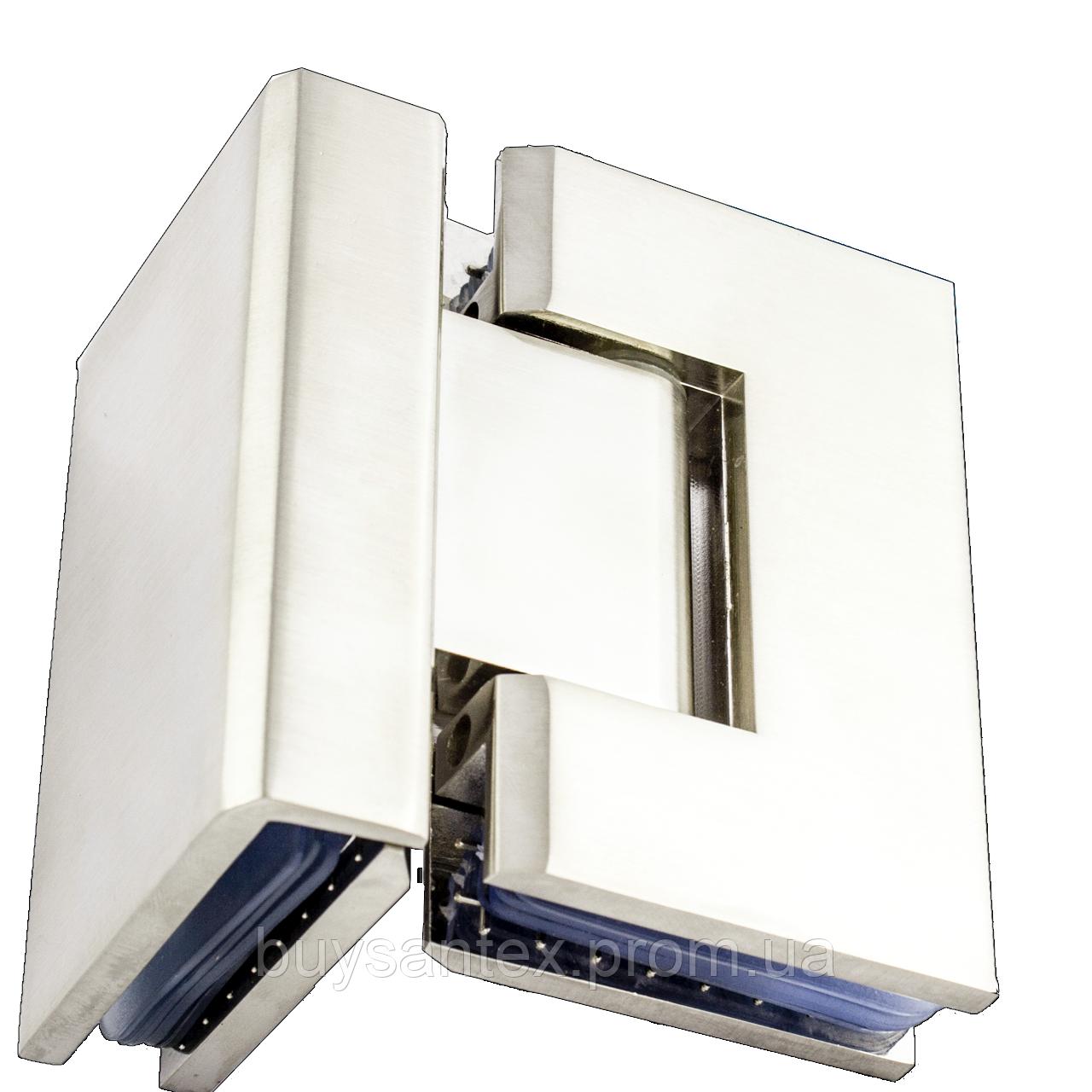 Петля для стекла 90°( стекло-стекло) 104 сатин