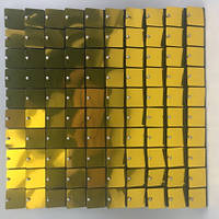 Квадратные Пайетки для рекламы Golden  Пайетки для вывесок  Пайетки для выставочного оборудования