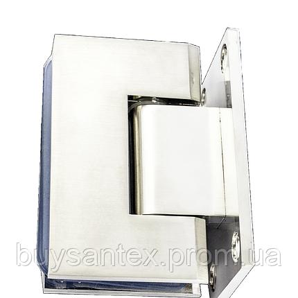 Петля для стекла 90° (стена-стекло) 101 сатин, фото 2
