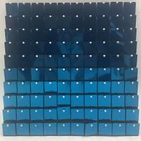 Квадратные Пайетки для рекламы Light Blue square  Пайетки для вывесок  Пайетки для выставочного оборудования