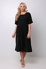 Платье в мелкий горошек для полных Элена, фото 2