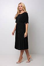 Платье в мелкий горошек для полных Элена, фото 3