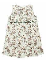 Летнее платье для девочки Оборки