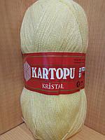Акриловая пряжа(100%-акрил, 100г/450(900)м) Kartopu kristal К327(светлый лимон)