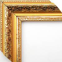 Рамка А2 42х60  ширина багета 5,8 см золотая