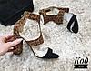 Стильные босоножки Код 2052 черно-леопардовые
