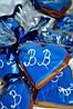 Свадебный  медовый имбирный пряник в синем цвете