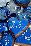 Свадебный  медовый имбирный пряник в синем цвете, фото 1