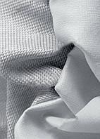 Ткань блэкаут  лен   светлый  серый