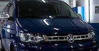 Накладка на решетку Volkswagen Т5/T6 (фольксваген т5/т6), нерж. (2010>)