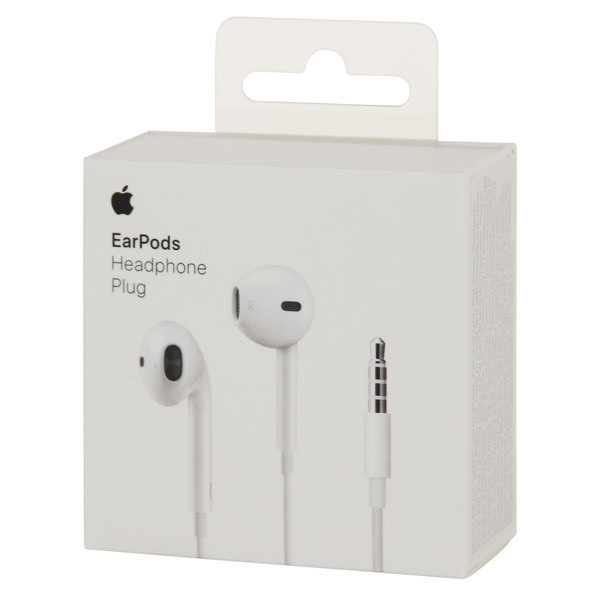 Наушники+ДУ Apple EarPods with Remote and Mic (MNHF2AM/A)
