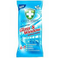 Влажные салфетки для стекол и зеркал Green Shield Glass&Window 50 шт.