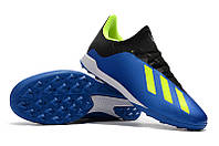 Футбольные сороконожки adidas X Tango 18.3 TF Football Blue/Solar Yellow/Core Black, фото 1