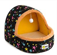 Лежанка домик со съемной подушкой для кота, собаки