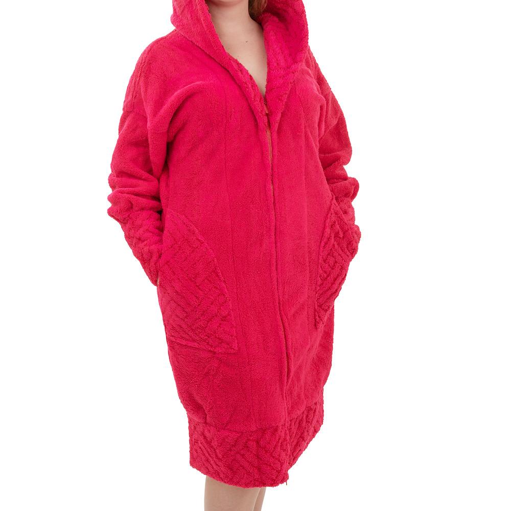 Женский халат из микрофибры SOFT SHOW COLLECTION SS128-2, розовый