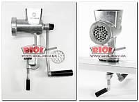 Мясорубка механическая (полированный алюминий, нож и решетка - никелированные) Полтавский завод