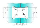 Петля для стекла 180°(стекло-стекло) 202 сатин (нержавейка), фото 4