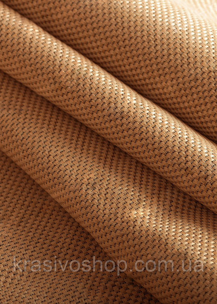 Ткань блэкаут  лен   карамель