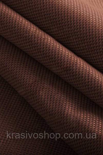 Ткань блэкаут  лен   медный