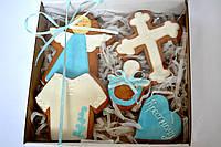 Медовый имбирный пряник Подарочный набор на крестины