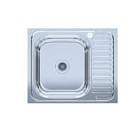 Мойка кухонная нержавейка UA 60*50-L Polish 0,6мм левая