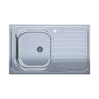 Мойка кухонная нержавейка UA 50*80-L Decor 0,4мм (Aisi 201) левая