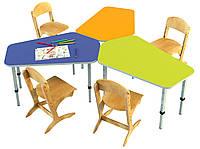 Комплект из трех детских столов «Пента», ростовых групп № 1, 2, 3 — 880x606x460-580 мм, фото 1