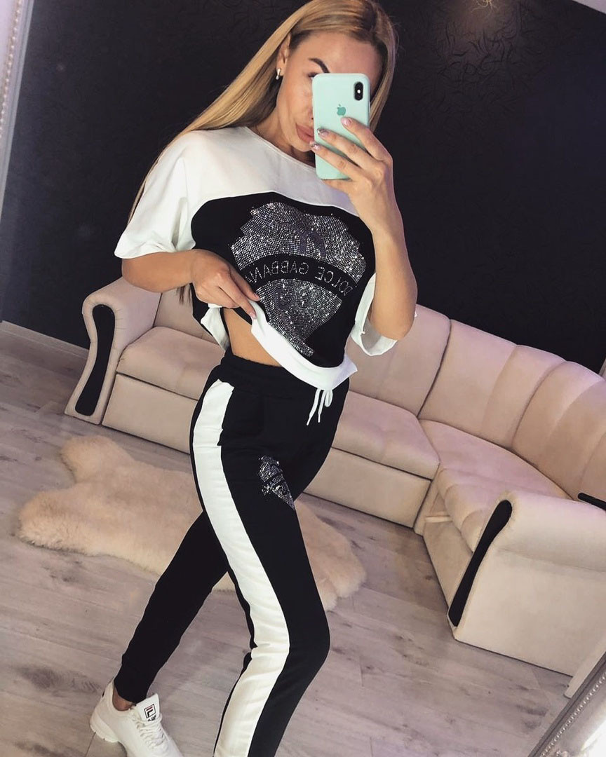 a978f10a Женский спортивный костюм с камнями Турция - Интернет-магазин