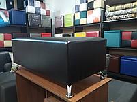 Банкетка Неаполь цвет Черный,пуфик,пуфики,пуф кожзам,пуф экокожа,банкетка,банкетки,пуф куб,пуф фото, фото 3