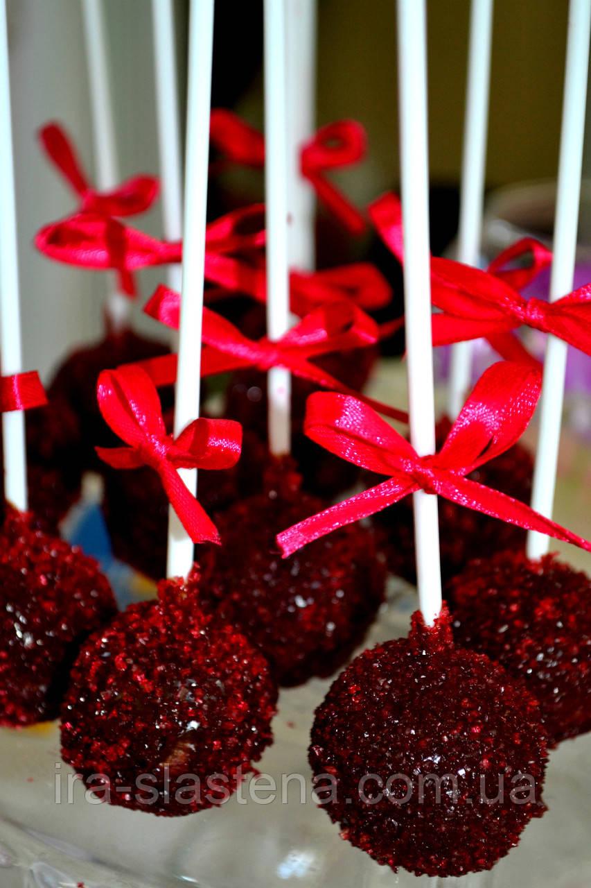 Candy Bar Кейк попс  марсала