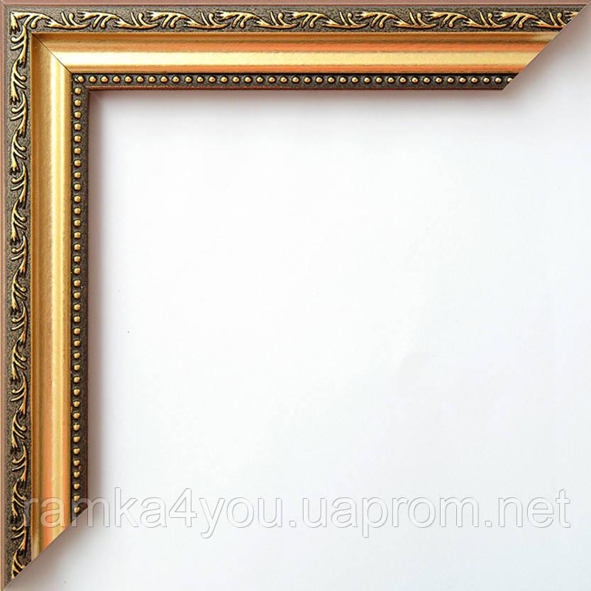 Рамка 40х50 2415-39MF коричневая с золотом