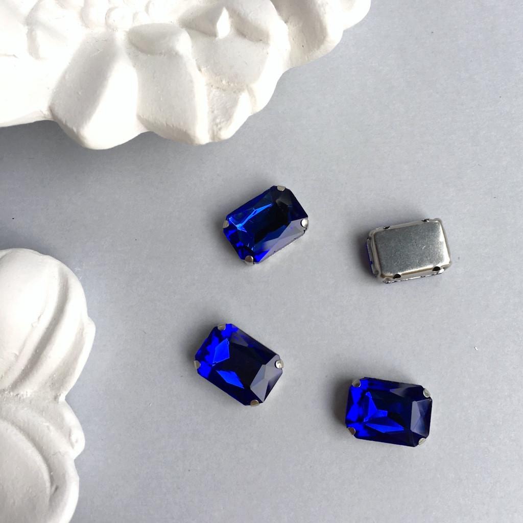 Кристаллы Прямоугольник 10х14 мм в цапах. Цвет: Royalblue (Королевский синий)