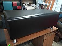 Банкетка Неаполь цвет Черный ,пуфик,пуфики,пуф кожзам,пуф экокожа,банкетка,банкетки,пуф куб,пуф фото, фото 3
