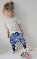 Легкие летние штанишки с карманами и заниженной матней. Размеры: 86 см, фото 1