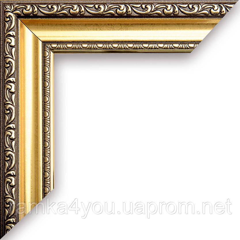 Рамка 40х50  3422-05MF коричневая с золотом