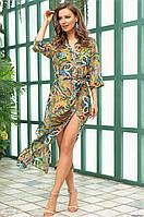 15b0f2d60e4d7 Пляжная рубашка - халат из воздушного шифона SALERNO