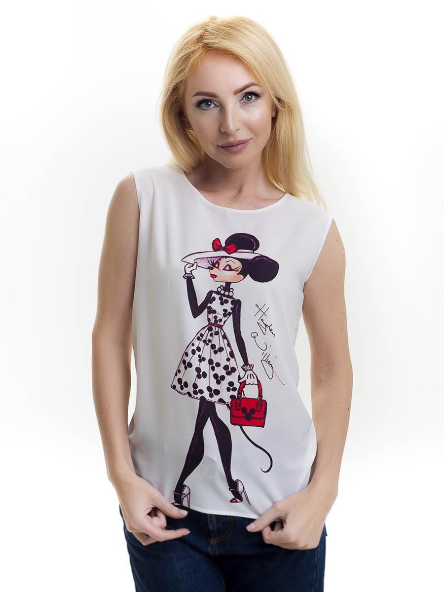 Женская блуза принт без рукава AA2019f, фото 1