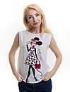 Женская блуза принт без рукава AA2019f, фото 3