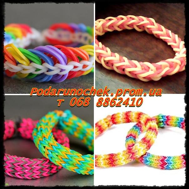 резинки Плетение из разноцветных резинок