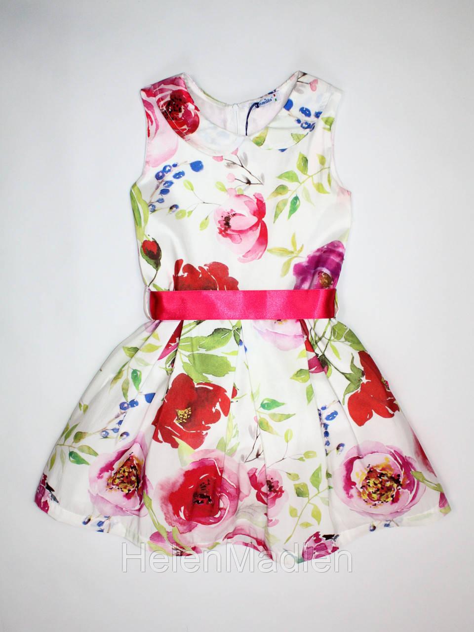 Платье нарядное Camilla бело-розовое Италия